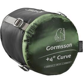 Nordisk Gormsson +4° Curve Slaapzak XL, zwart/groen